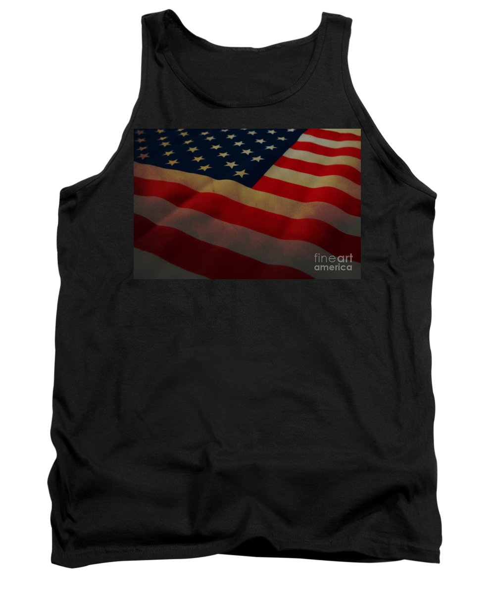 American Flag Tank Top featuring the photograph American Flag by Andrea Anderegg