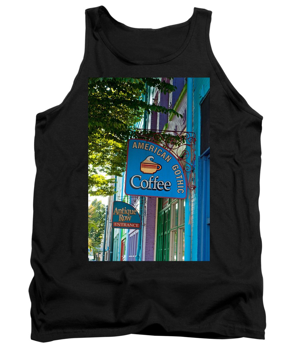 Tacoma Washington Tank Top featuring the photograph American Gothic Coffee by Tikvah's Hope