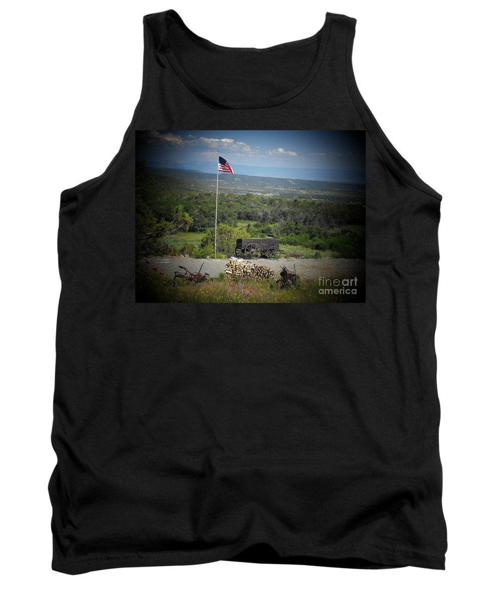 Usa Tank Top featuring the photograph American Wagon by Brandi Maher