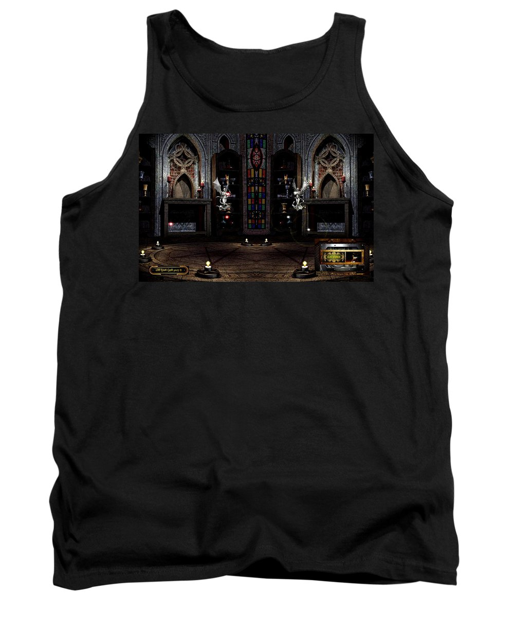 Angel Tank Top featuring the digital art Angel And Devil by Robert Marquiss