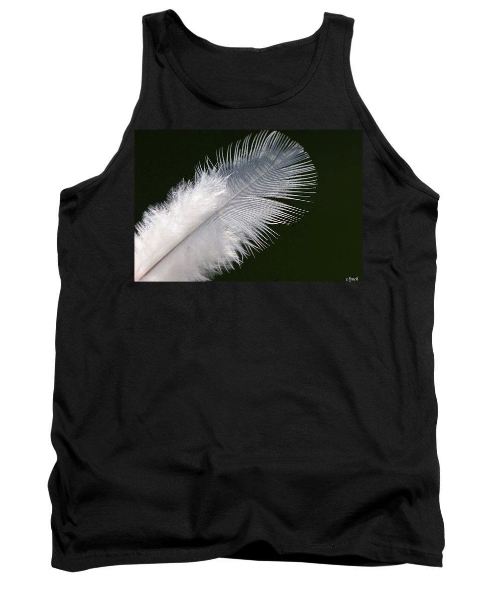 Angel Tank Top featuring the photograph Angel Feather by Carol Lynch