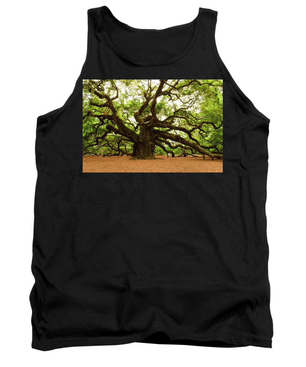 Tree Tank Top featuring the photograph Angel Oak Tree 2009 by Louis Dallara