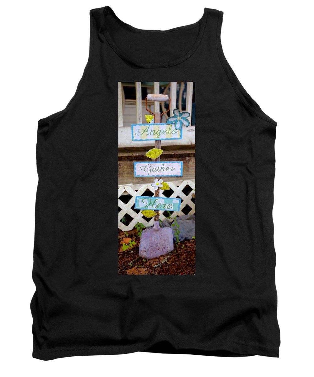 6051 Tank Top featuring the photograph Angels Gather Here by Gordon Elwell