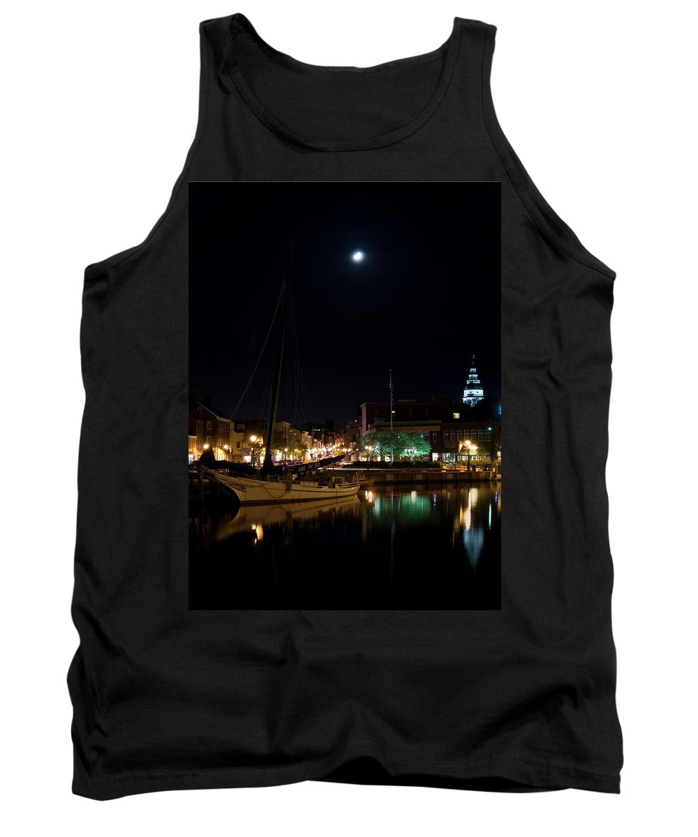 Annapolis Tank Top featuring the photograph Annapolis Maryland Panorama by Benjamin Reed