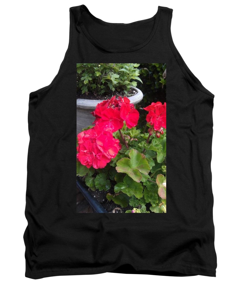 Flowers Tank Top featuring the photograph Annual Pleasure by Melissa Borchardt