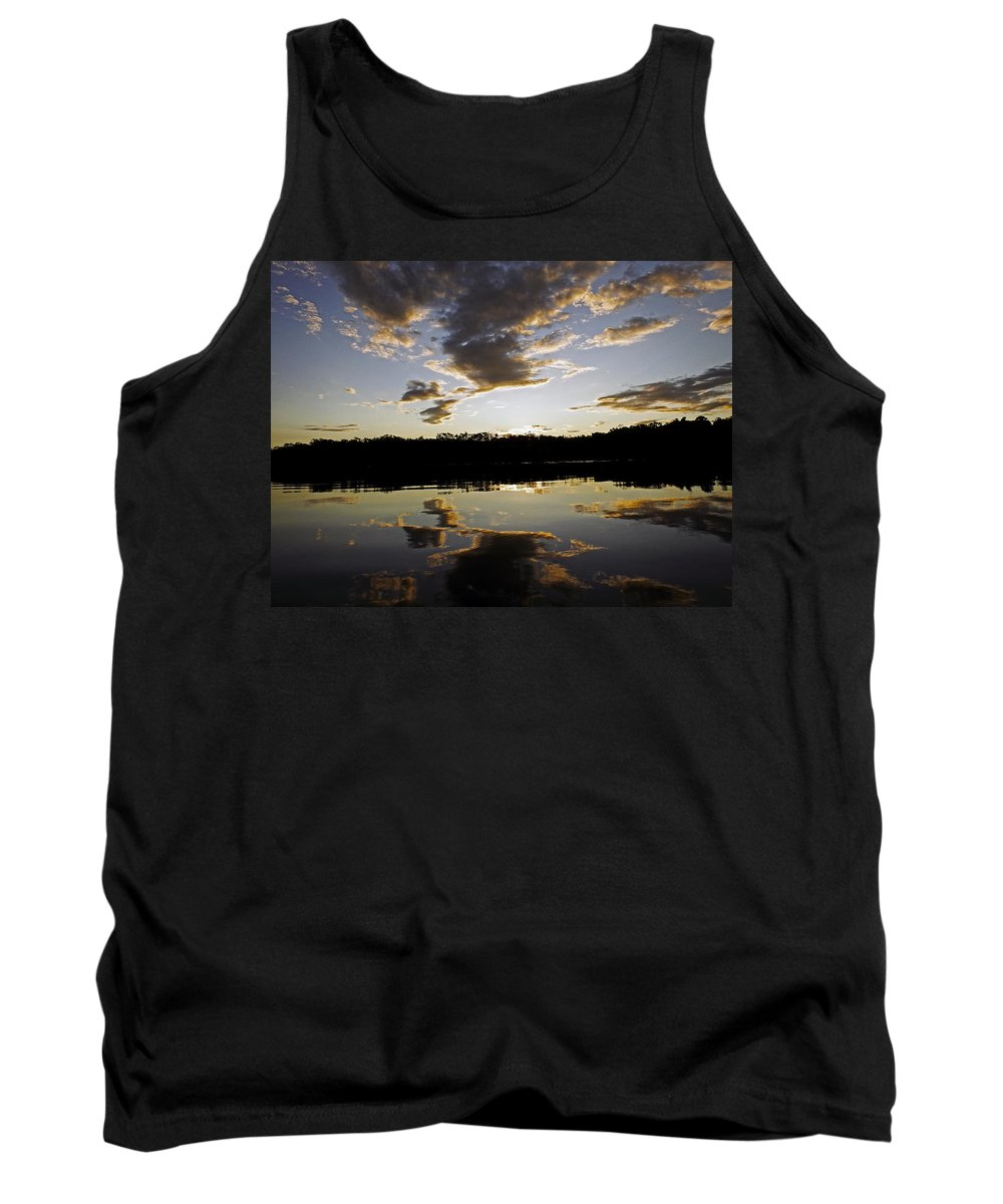 Sunset Tank Top featuring the photograph Another Sunset In The Jungle by Kurt Van Wagner