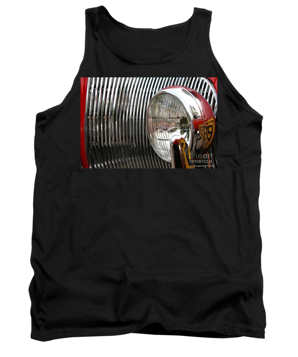 Automobile Tank Top featuring the photograph Antique Grill by Susan Herber