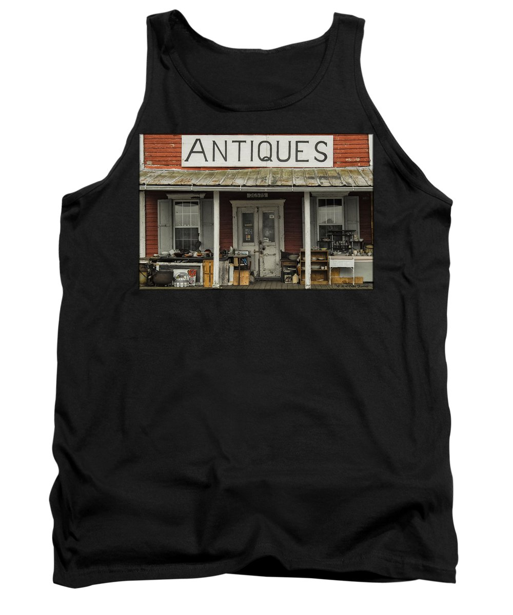 Antiques Tank Top featuring the photograph Antiques by Erika Fawcett