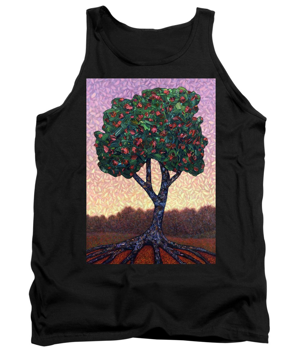 Apple Tree Tank Top featuring the painting Apple Tree by James W Johnson