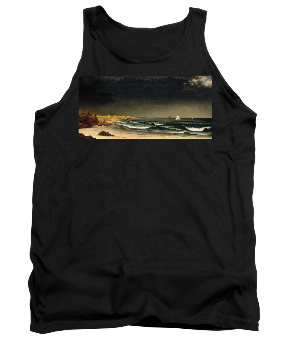 Martin Johnson Heade Tank Top featuring the painting Approaching Storm. Beach Near Newport by Martin Johnson Heade