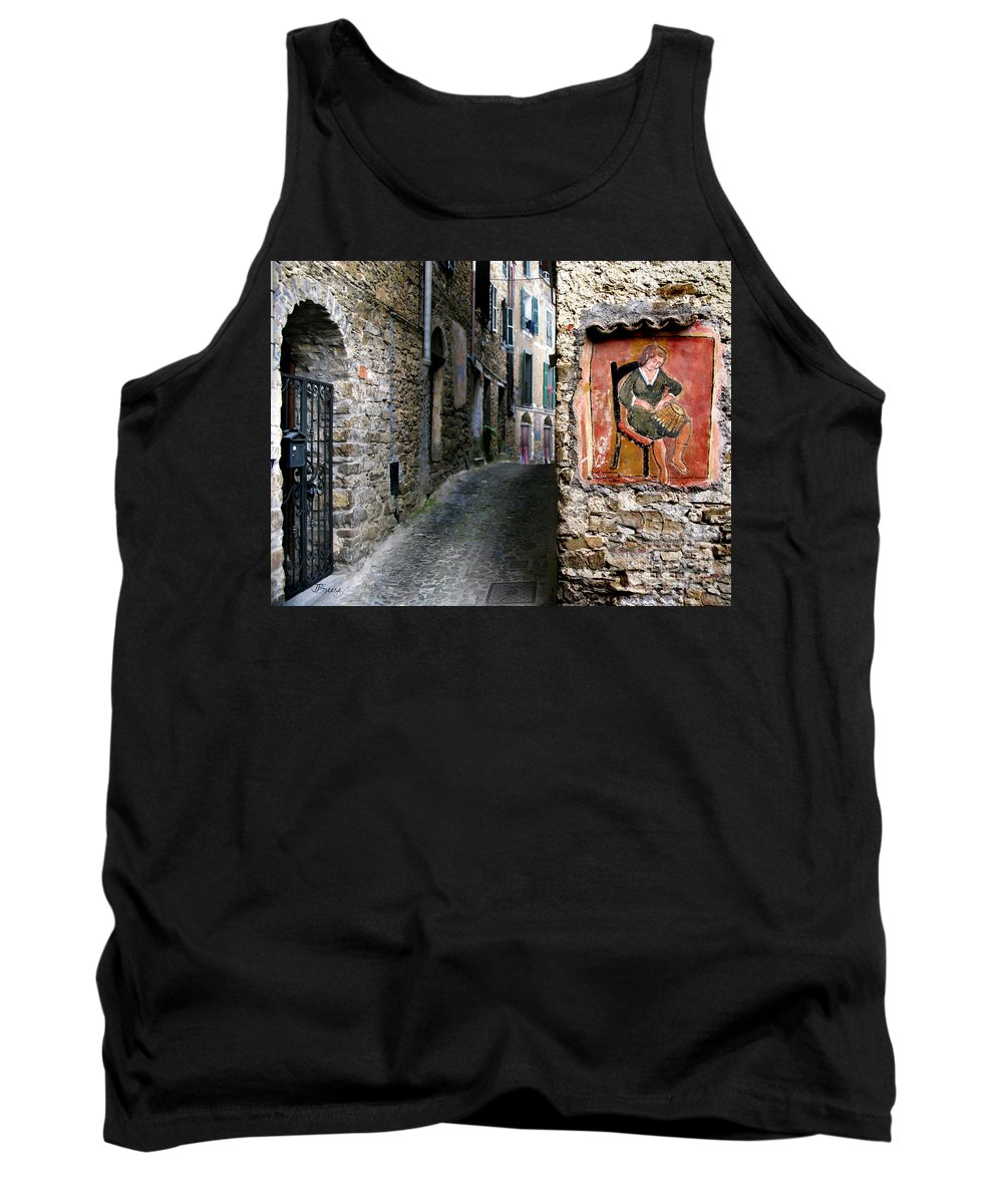 Apricale Tank Top featuring the photograph Apricale.italy by Jennie Breeze
