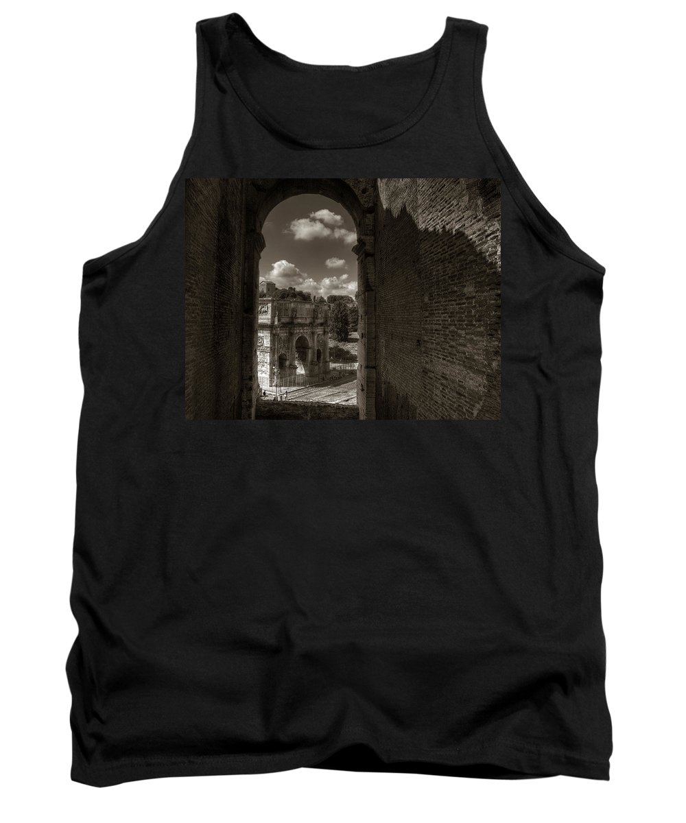 Arch Of Constantine Tank Top featuring the photograph Arch Of Constantine From The Colosseum by Michael Kirk