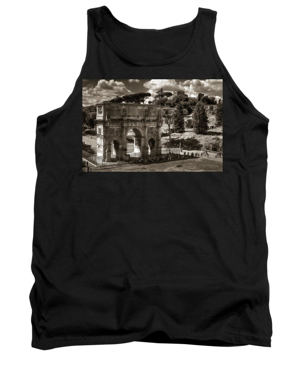 Arch Tank Top featuring the photograph Arch Of Contantine by Michael Kirk