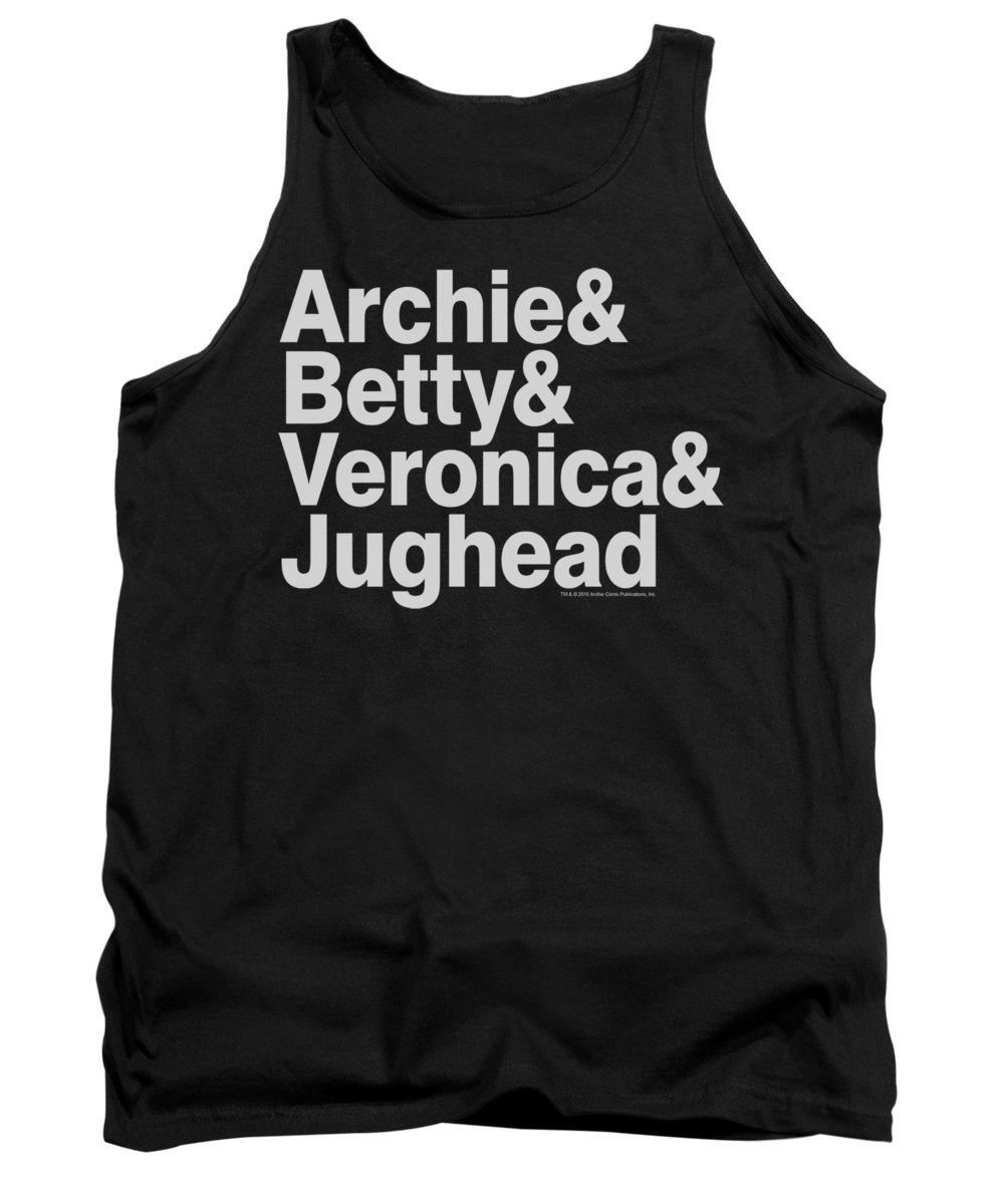 Archie Tank Top featuring the digital art Archie Comics - Ampersand List by Brand A