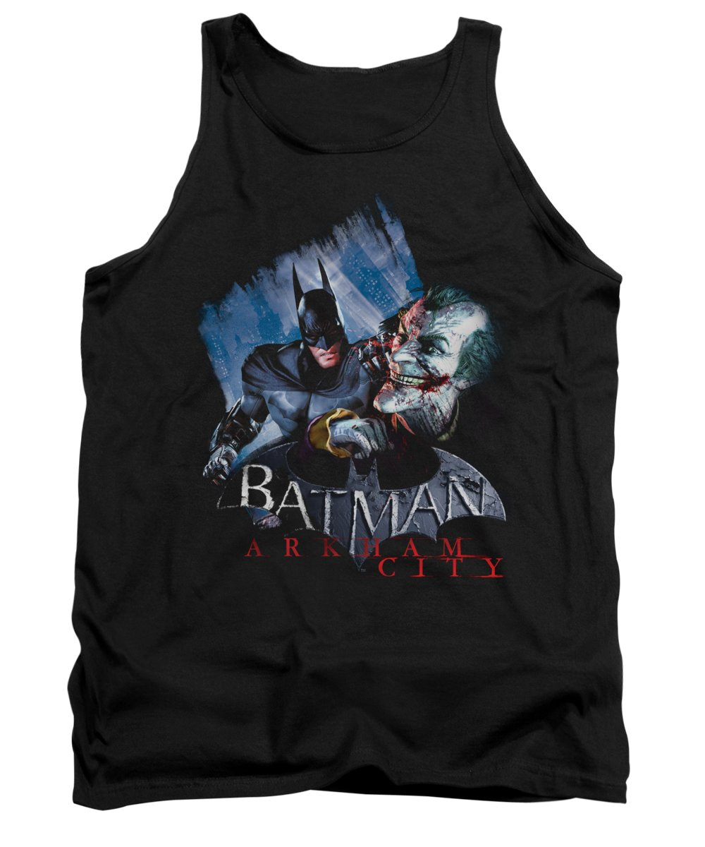Arkham City Tank Top featuring the digital art Arkham City - Joke's On You! by Brand A
