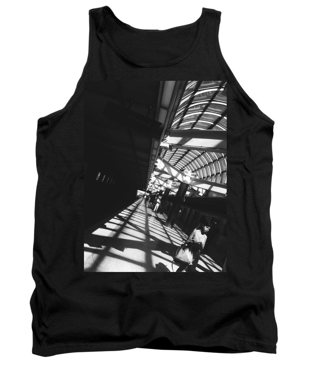Black And White Tank Top featuring the photograph Arrested By The Light by Valerie Rosen