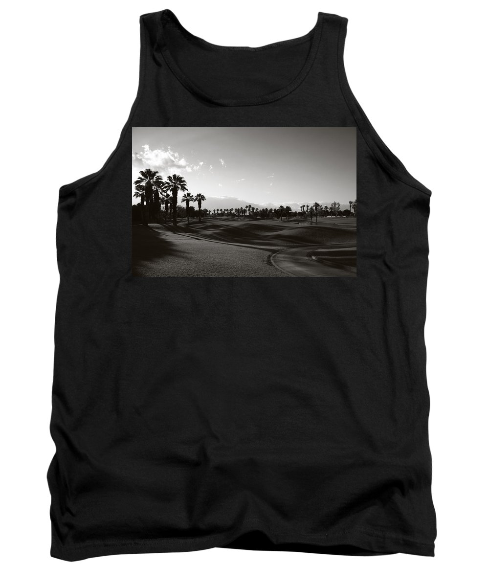 Palm Desert Tank Top featuring the photograph As Shadows Spread Across The Land by Laurie Search