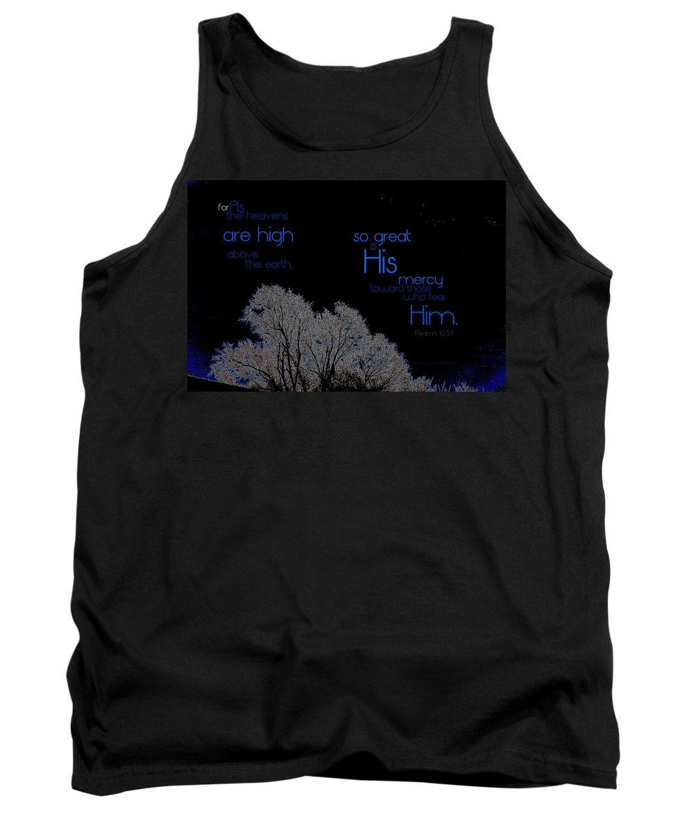 Heaven Tank Top featuring the photograph As The Heavens by Kim Blaylock