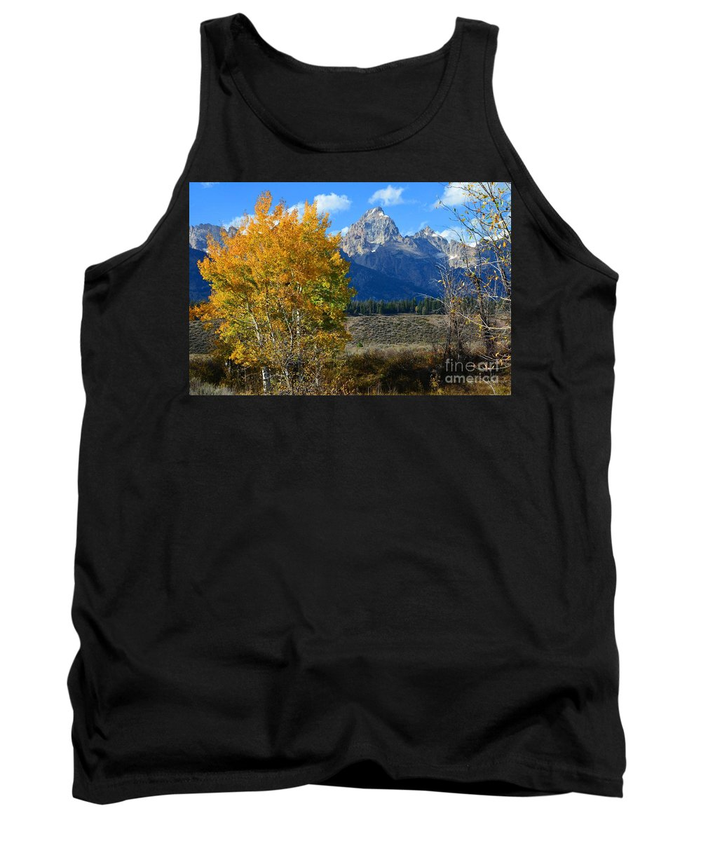 Grand Teton Tank Top featuring the photograph Aspen Peaks by Deanna Cagle