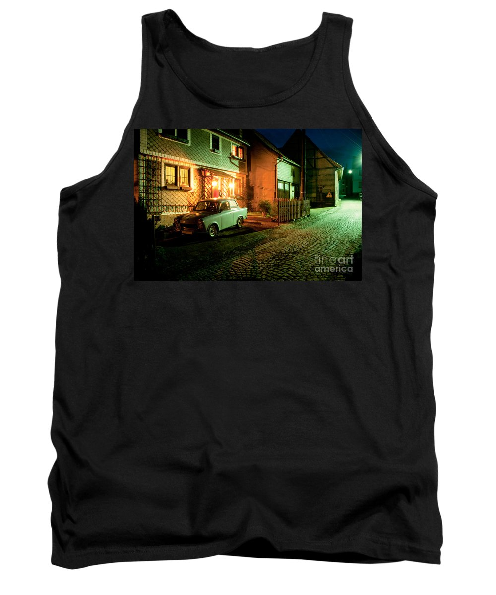 Asleep Tank Top featuring the photograph At Night In Thuringia Village Germany by Stephan Pietzko