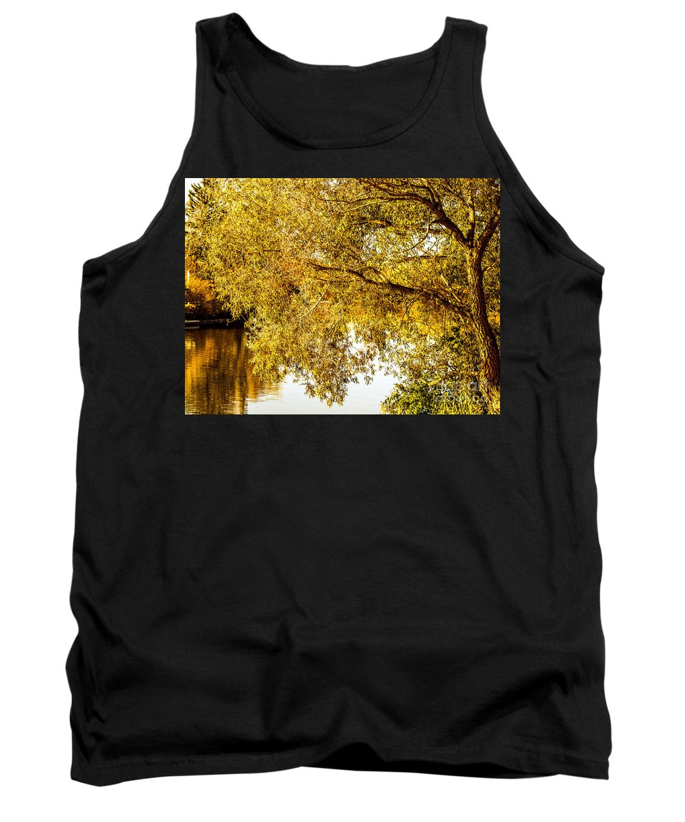 Autumn Tank Top featuring the photograph At The Lake -37 by David Fabian
