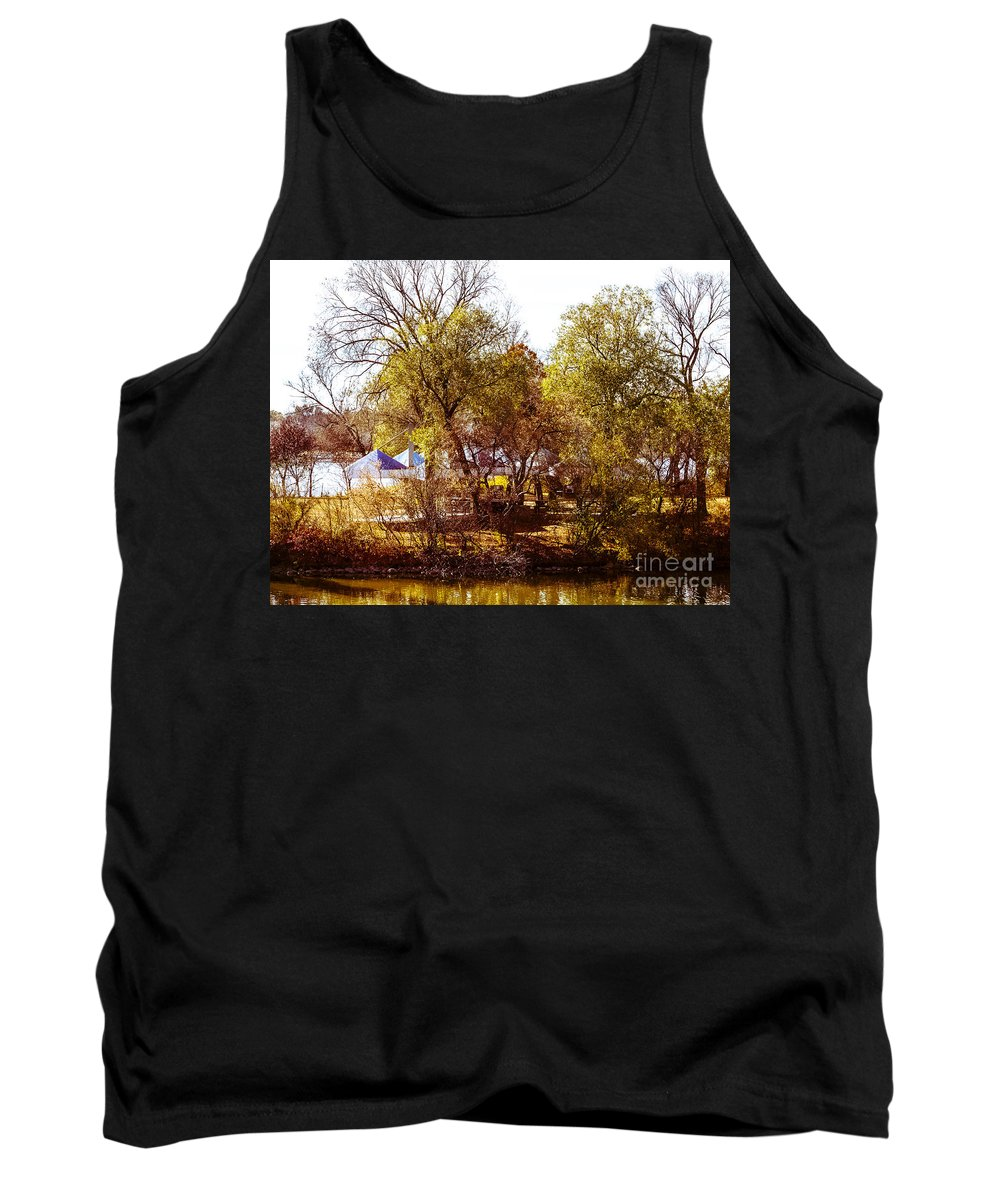 Island Tank Top featuring the photograph At The Lake-45 by David Fabian