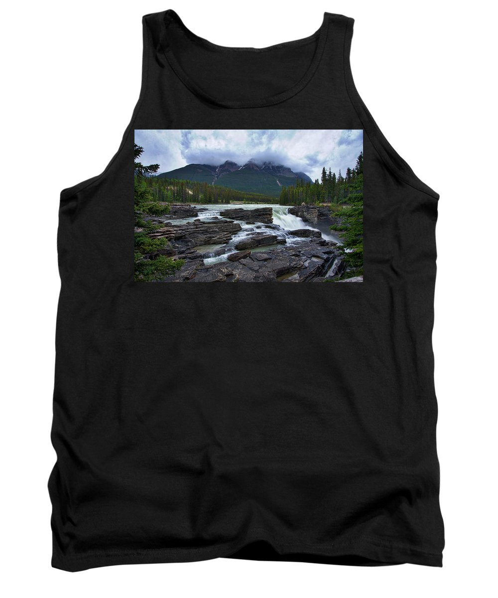Athabasca Falls Tank Top featuring the photograph Athabasca Falls #3 by Stuart Litoff