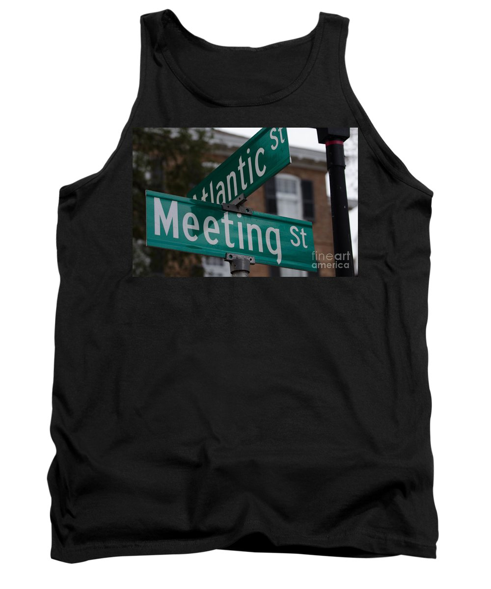 Atlantic St Tank Top featuring the photograph Atlantic And Meeting St by Dale Powell