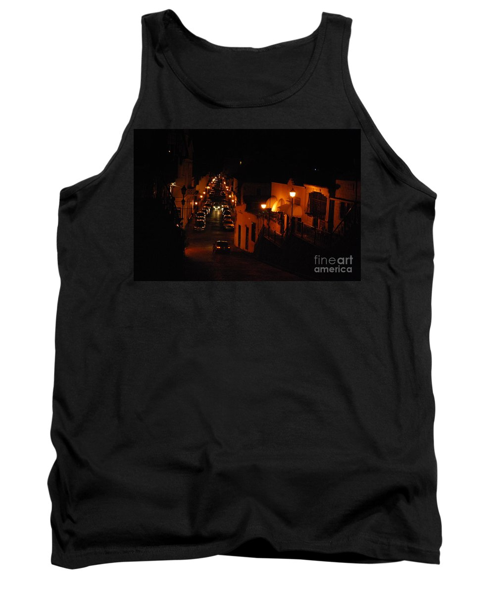 Santo Domingo Tank Top featuring the photograph Atop Calle Hostos At Night Horizontal by Heather Kirk