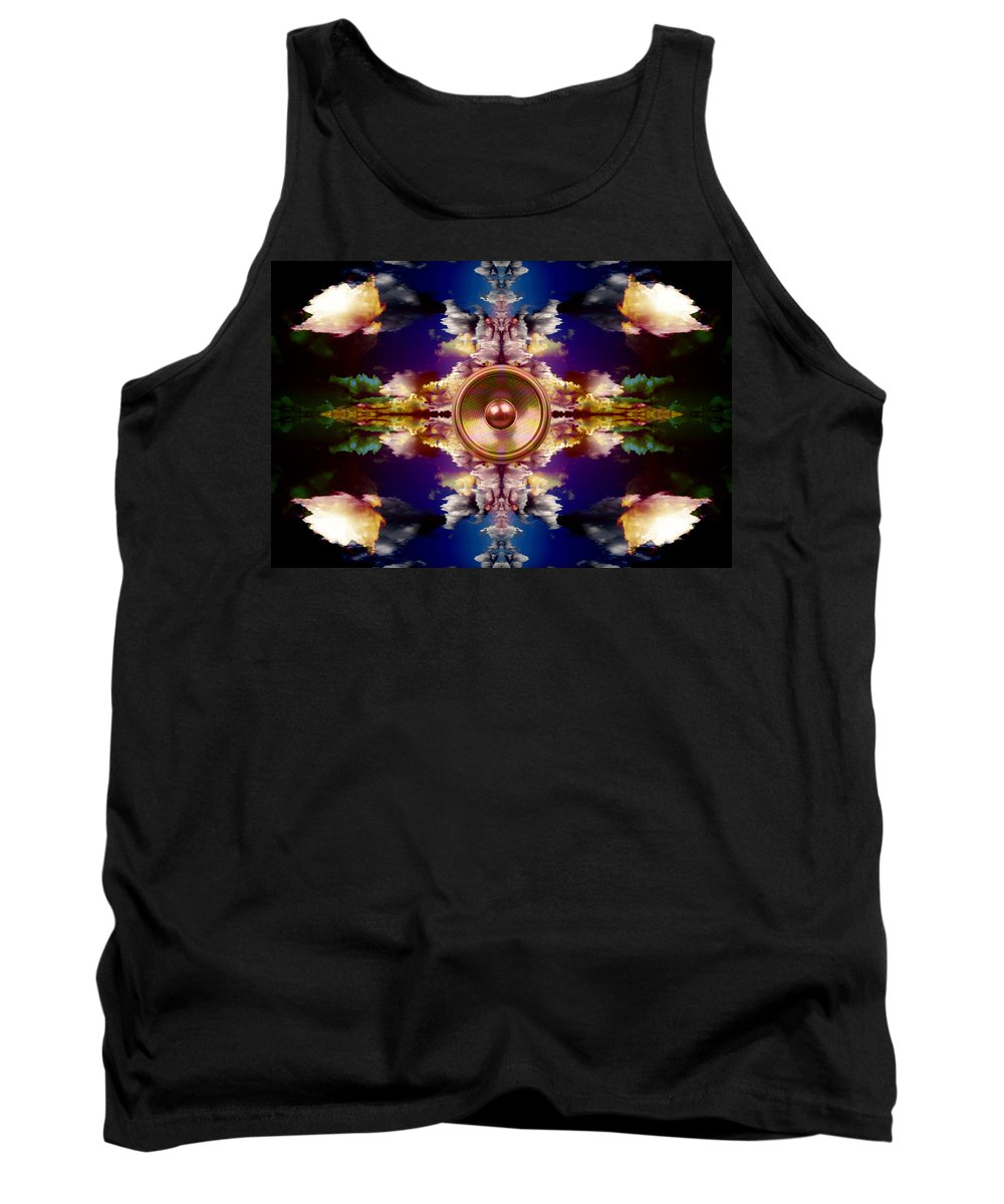 Fantasy Tank Top featuring the digital art Audio Reflect 2 by Steve Ball