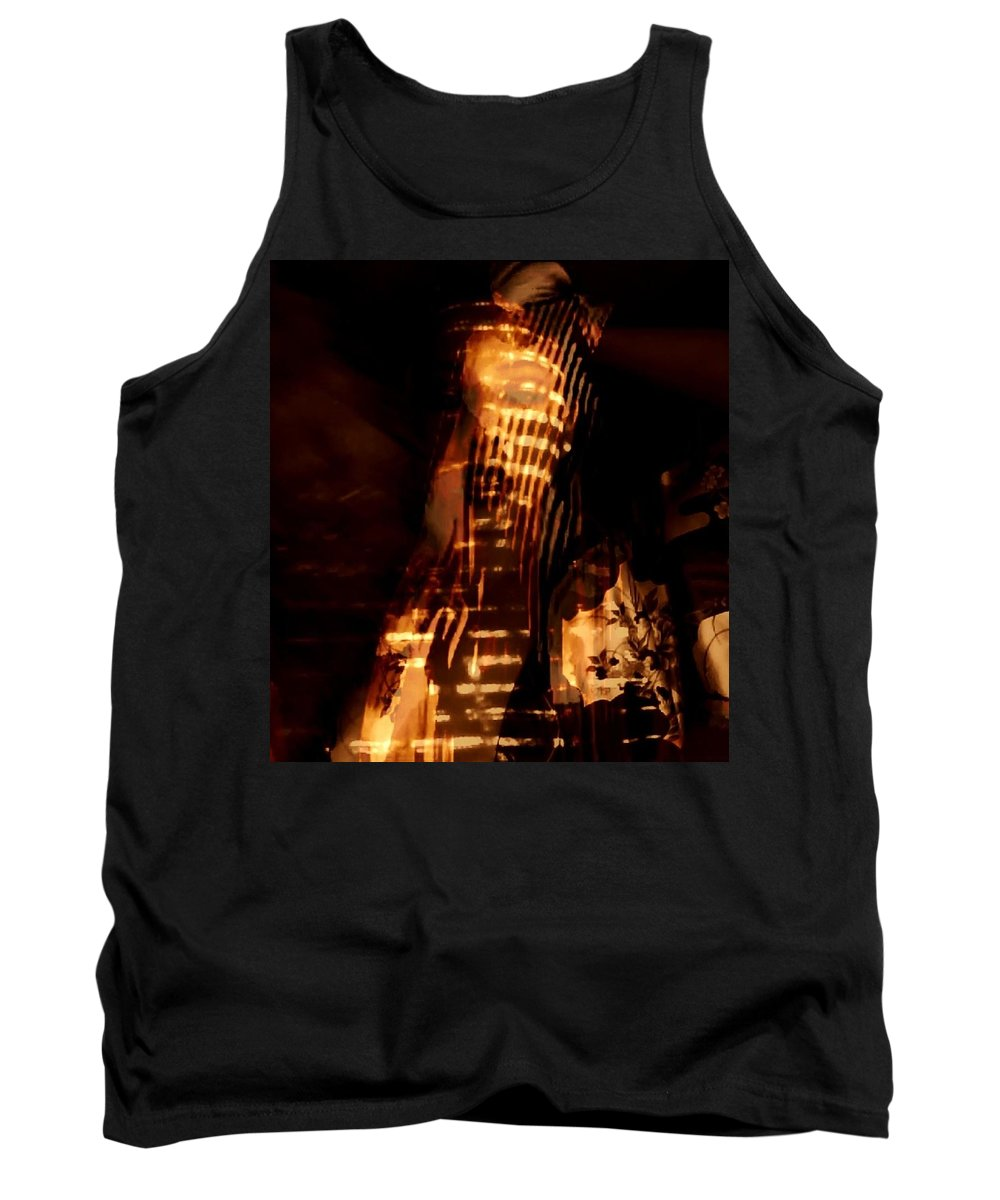 Gold Egyptian Flames Candle Temples Tank Top featuring the photograph Aurous by Jessica Shelton