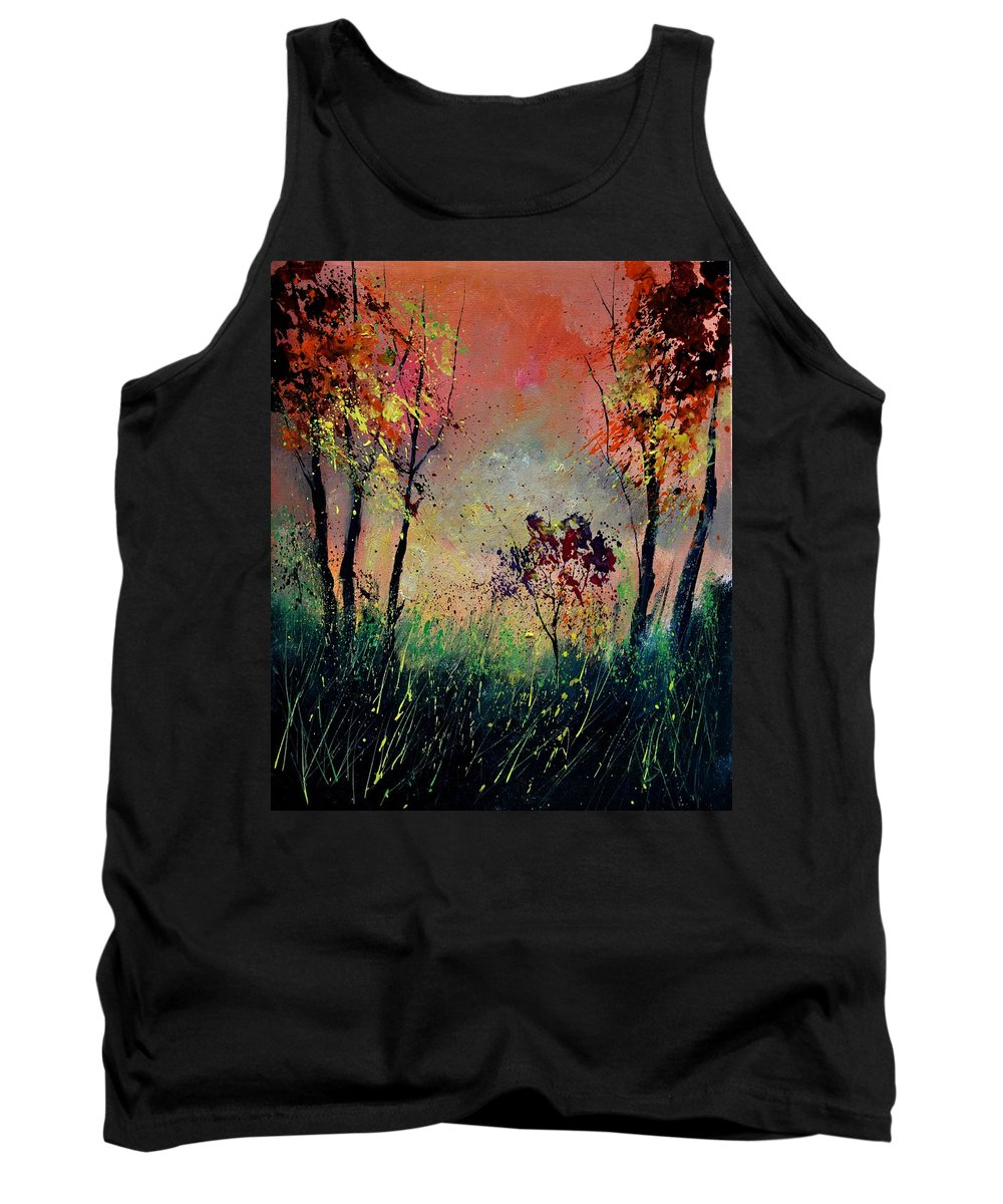 Landscape Tank Top featuring the painting Autumn 5631 by Pol Ledent