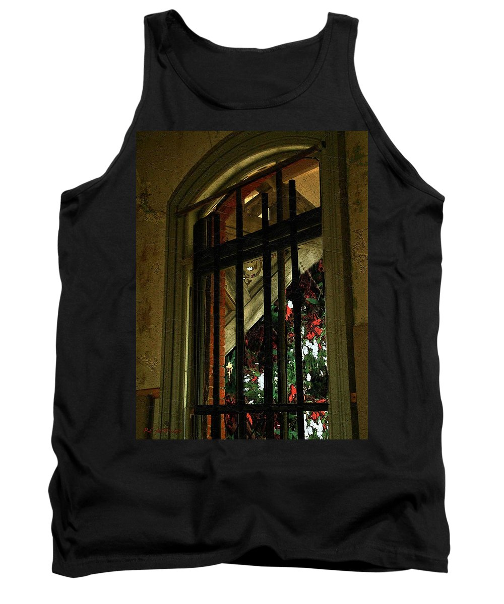 Window Tank Top featuring the painting Autumn At The Old Sanitarium by RC DeWinter