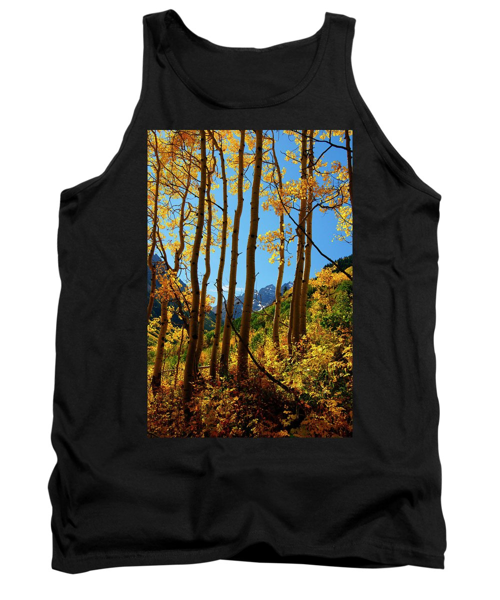 Colorado Tank Top featuring the photograph Autumn Brilliance by Jeremy Rhoades