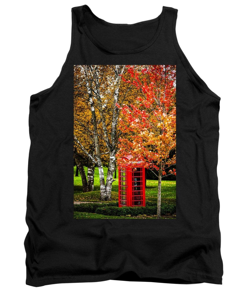 Phone Tank Top featuring the photograph Autumn Call by Sheri Bartoszek