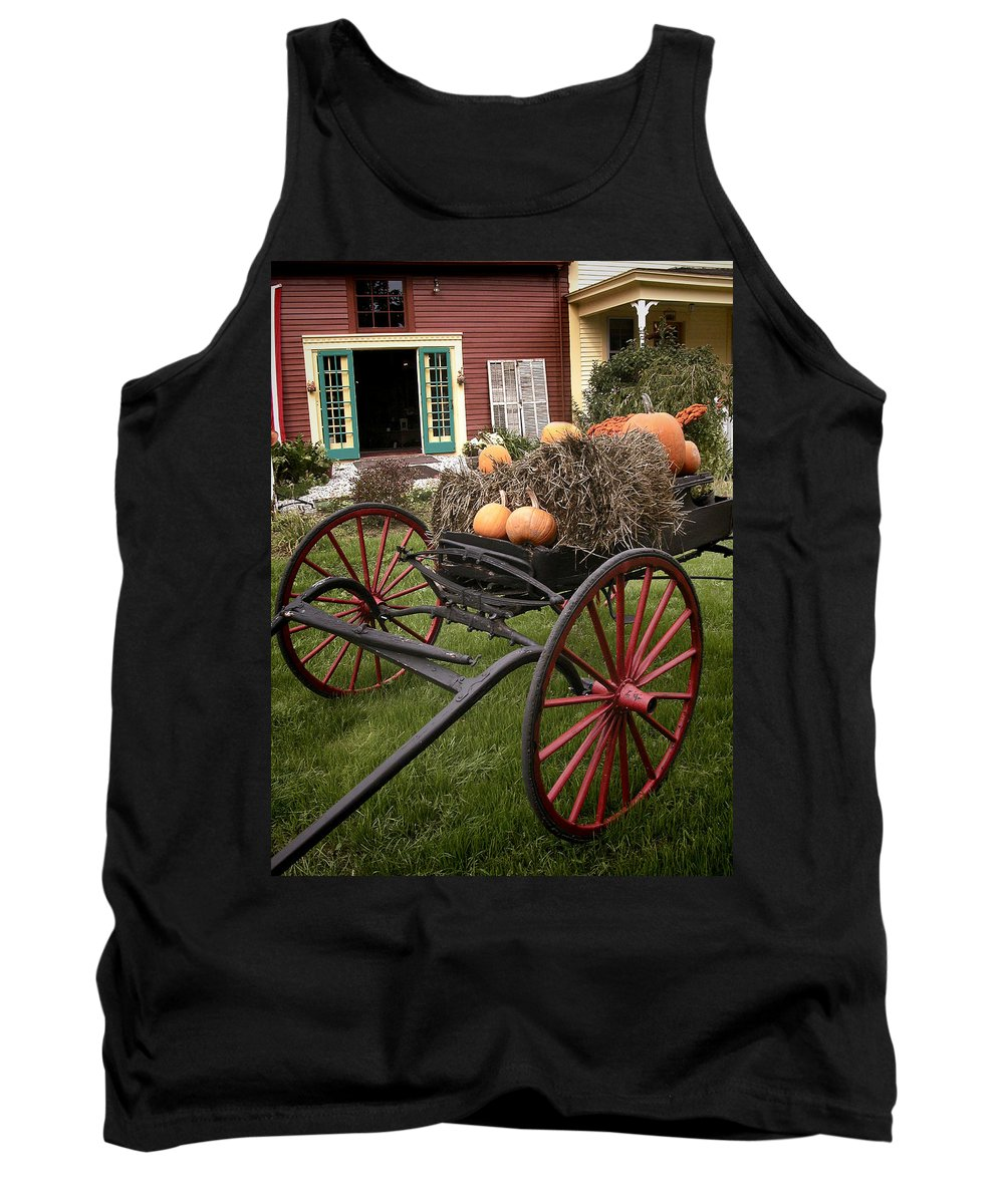 Carriage Tank Top featuring the photograph Autumn Decor by Ray Summers Photography
