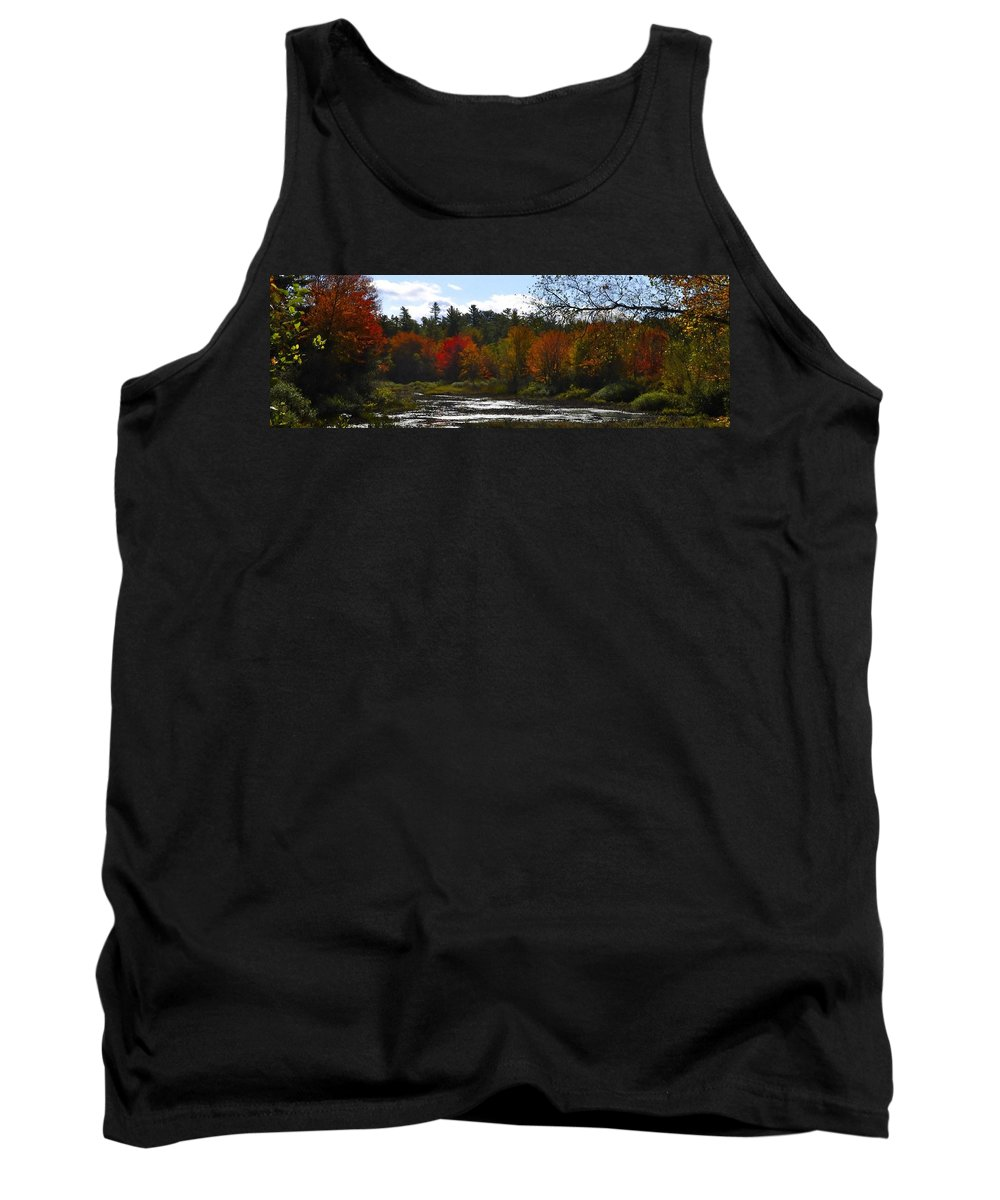 River Tank Top featuring the digital art Autumn Dreaming Adwc by Jim Brage