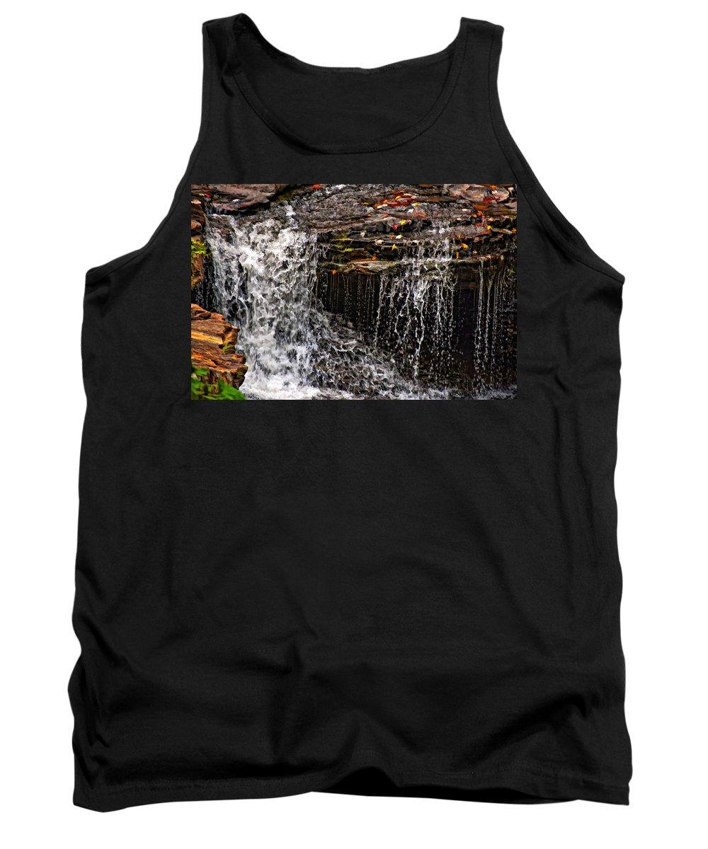 Water Tank Top featuring the photograph Autumn Falls by Steve Harrington