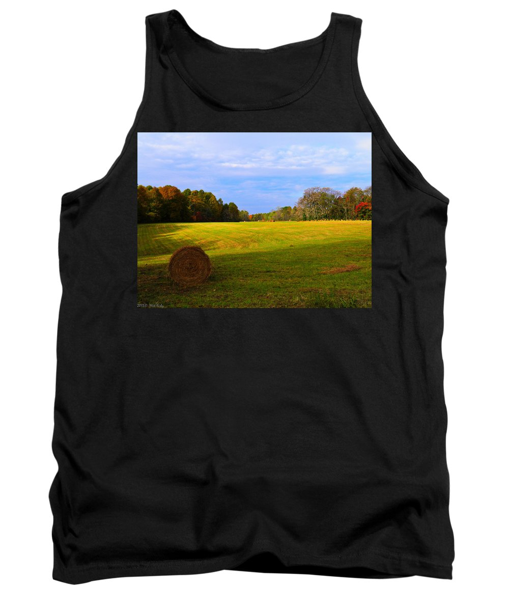 Hay Tank Top featuring the photograph Autumn Hay 3 by Nick Kirby