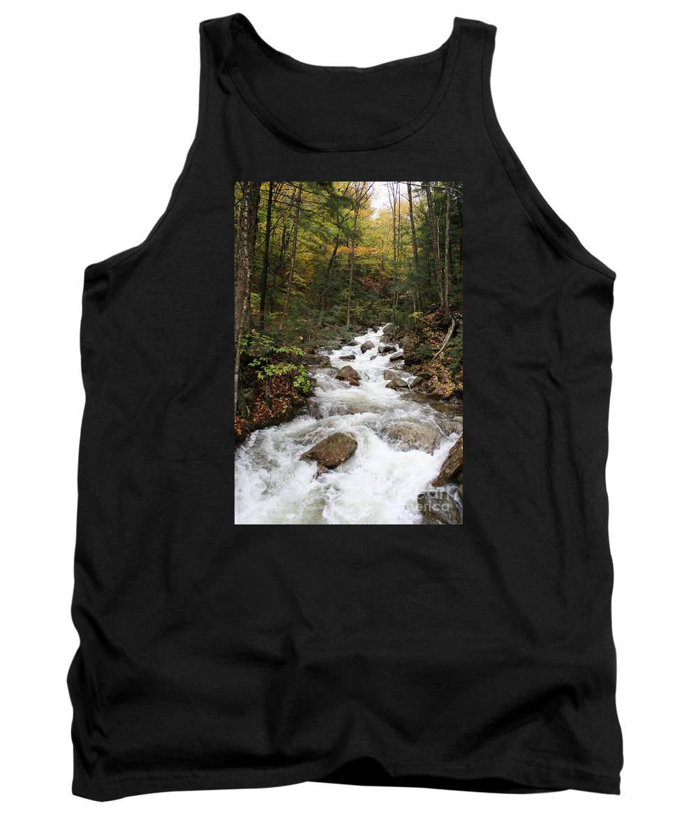 Franconia Notch Tank Top featuring the photograph Franconia Notch In Autumn by Christiane Schulze Art And Photography