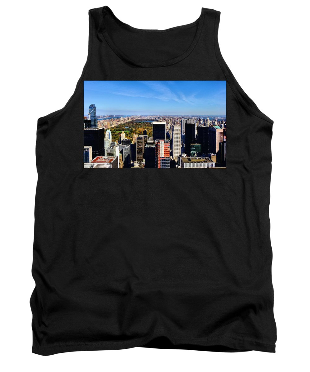 Autumn In New York City Tank Top featuring the photograph Autumn In New York City by Dan Sproul