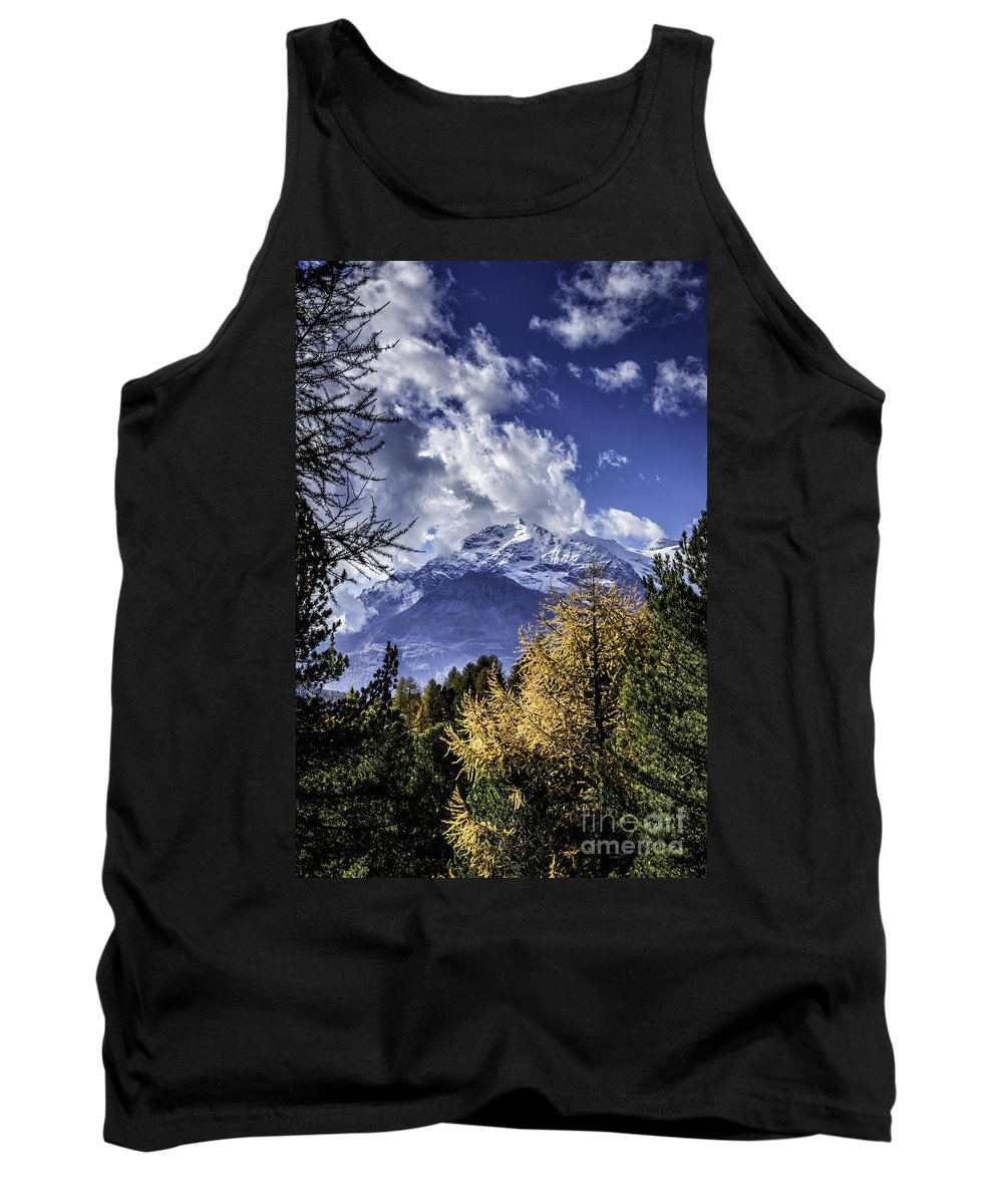 Pontresina Tank Top featuring the photograph Autumn In The Alps 2 by Timothy Hacker
