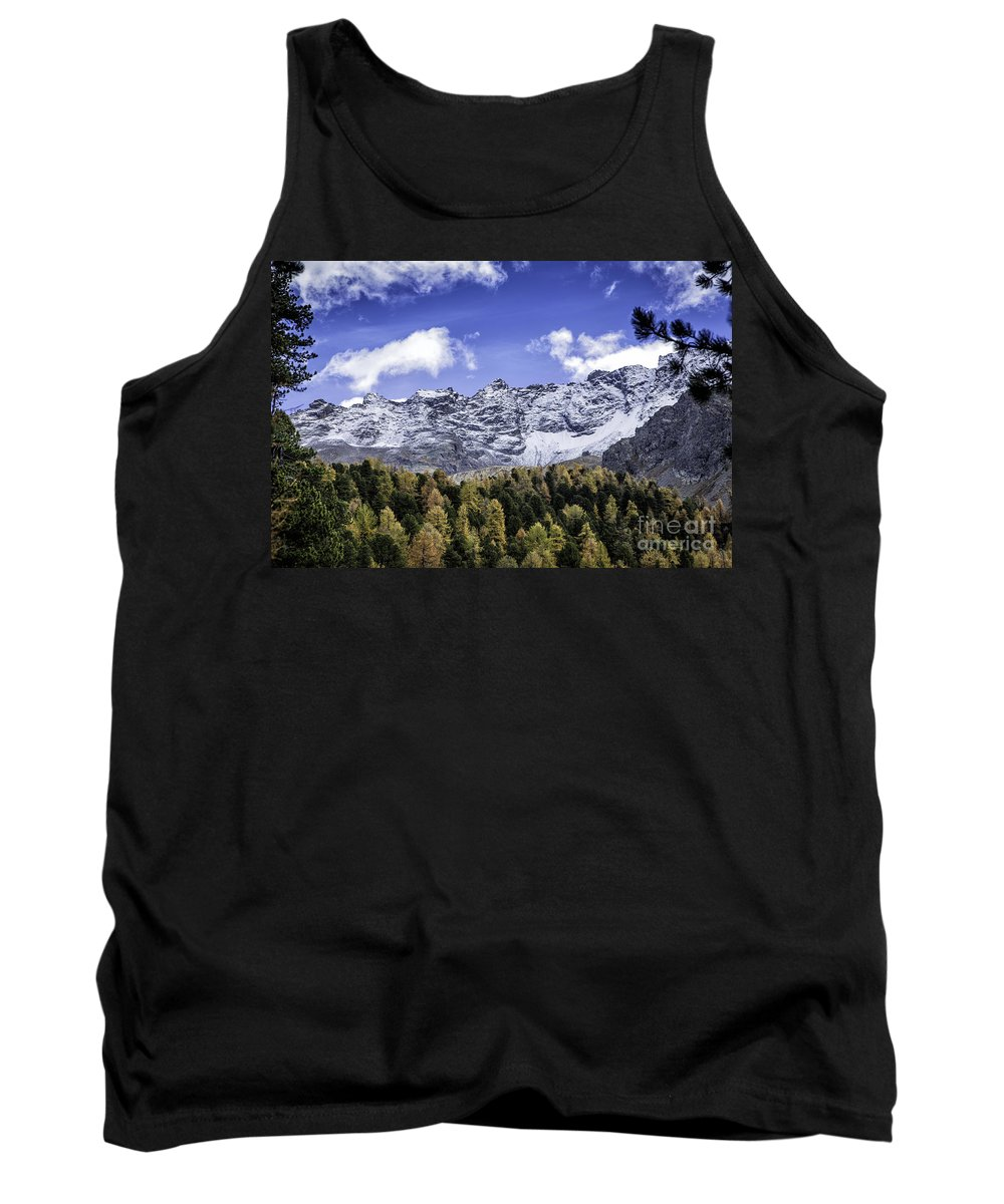 Pontresina Tank Top featuring the photograph Autumn In The Alps by Timothy Hacker