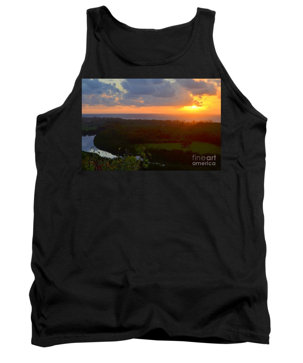 Autumn Tank Top featuring the photograph Autumn Morning Over Wailua by Mary Deal