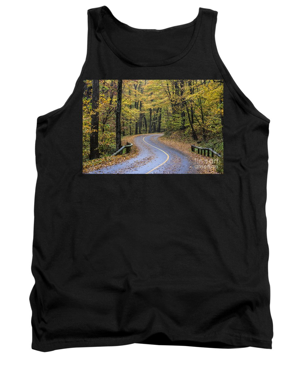 Massachusetts Tank Top featuring the photograph Autumn Road by John Greim