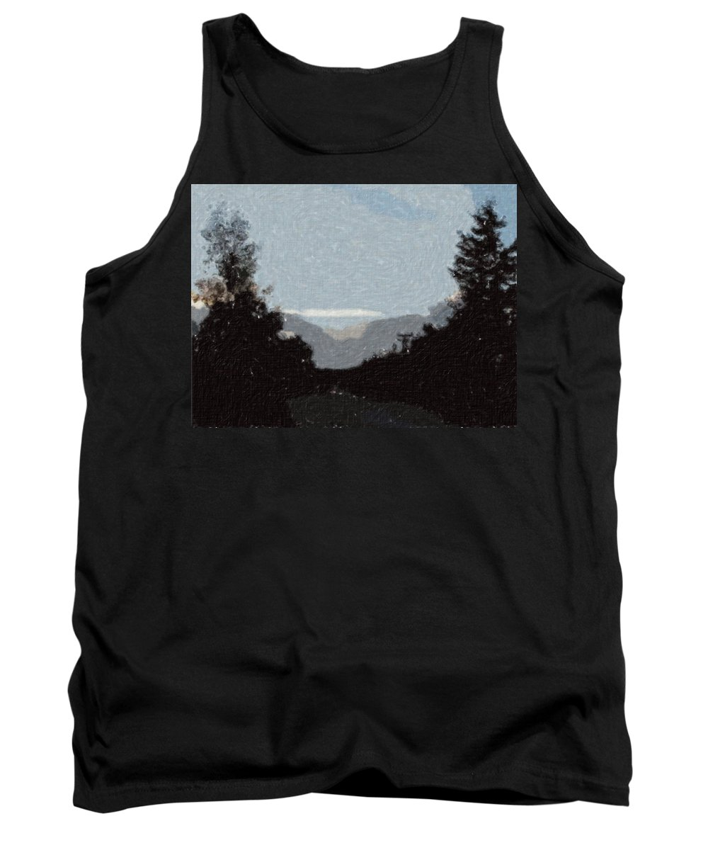 Autumn Tank Top featuring the painting Autumn Roads by Sergey Bezhinets