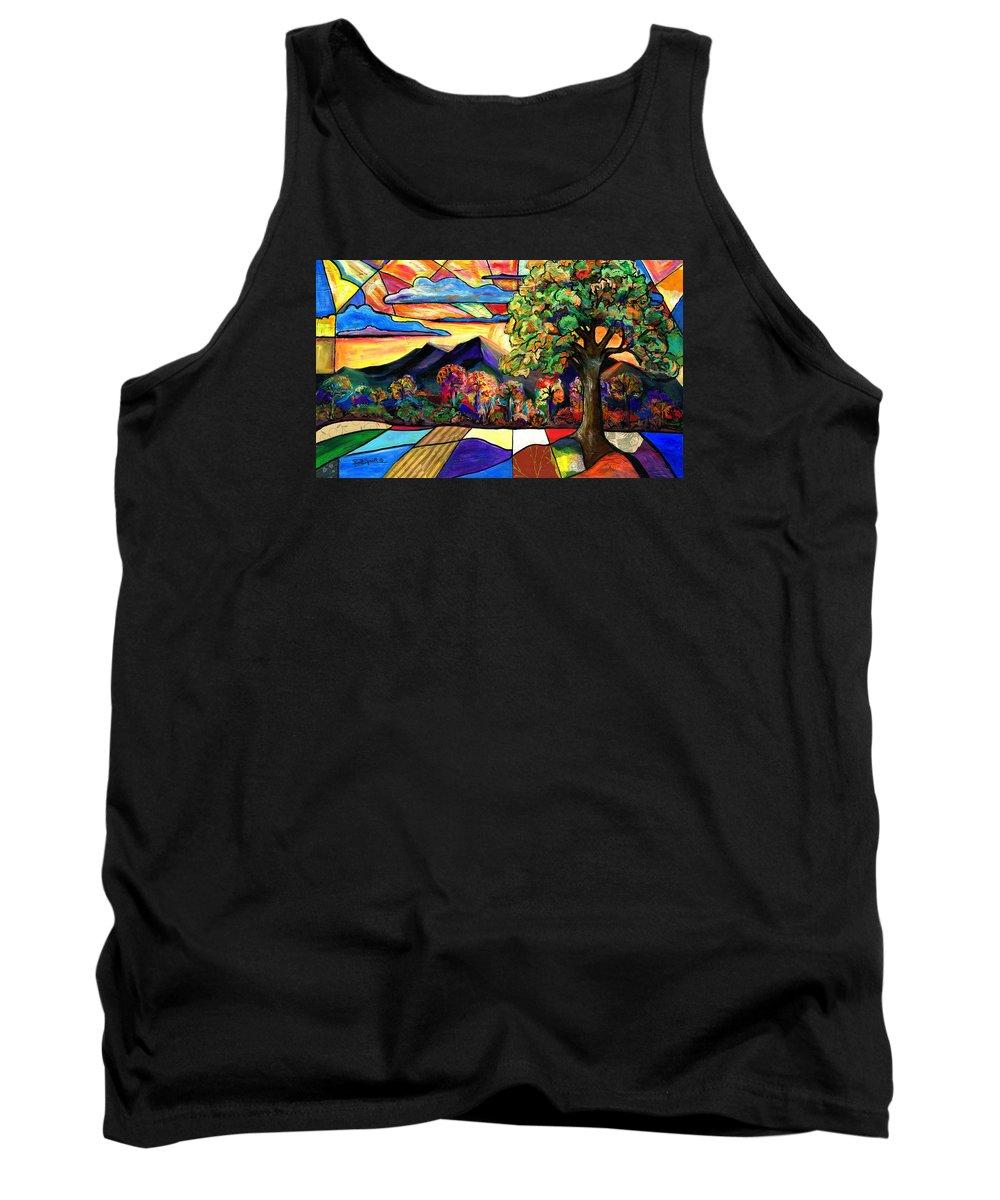 Everett Spruill Tank Top featuring the painting Autumn Sunrise by Everett Spruill