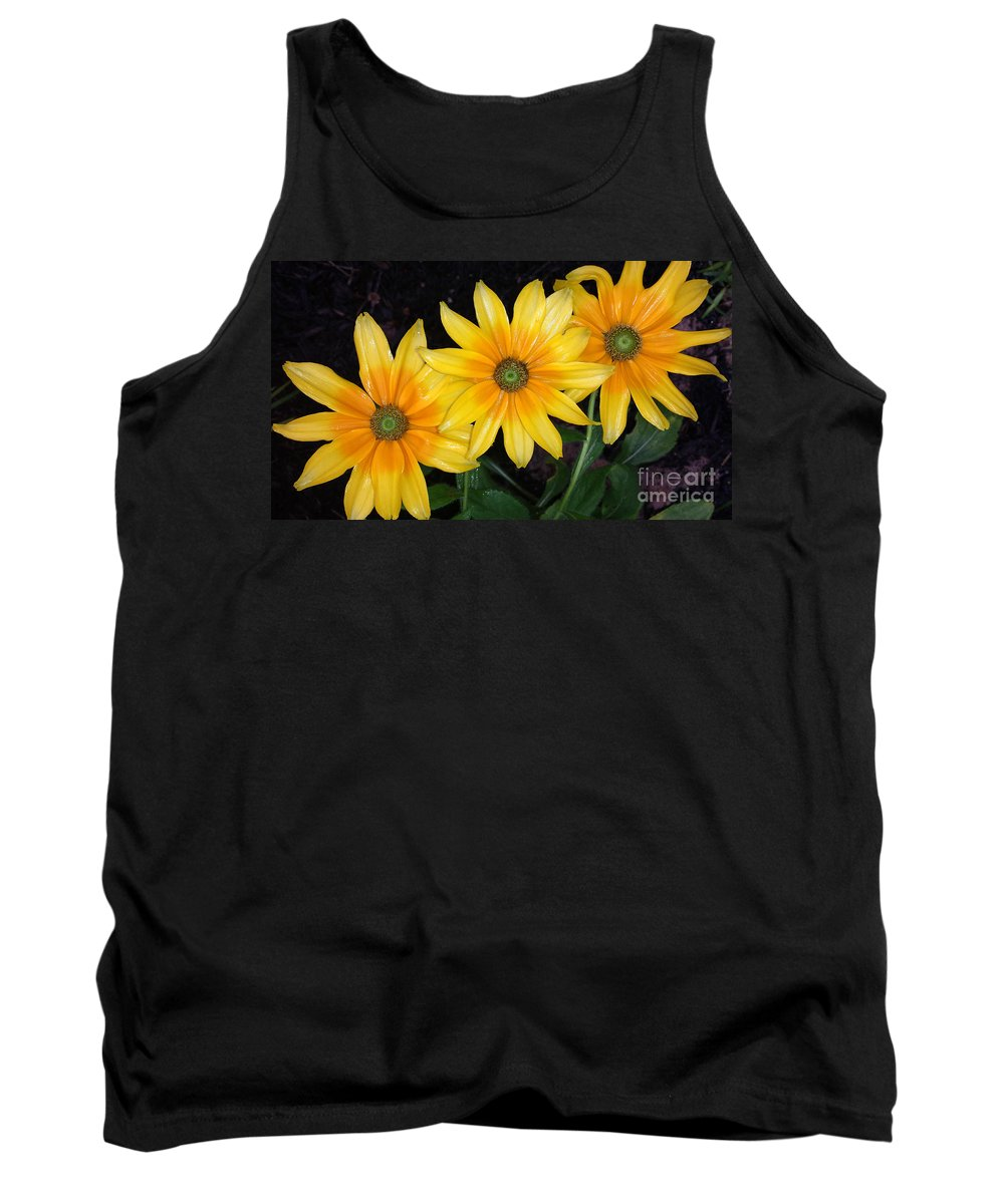 Black Eyed Susans Tank Top featuring the photograph Autumn Trinity by Amy Steeples