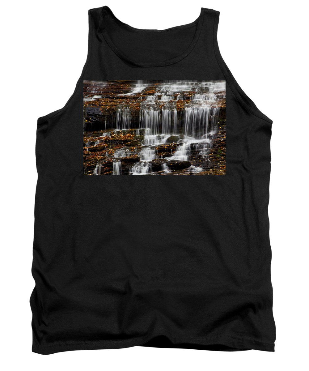 Water Tank Top featuring the photograph Autumn Waterfall by Amy Jackson