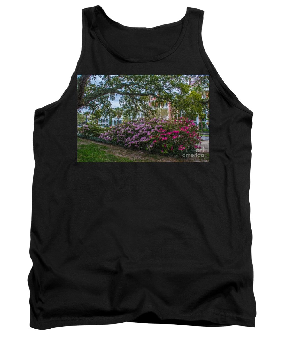Spring Tank Top featuring the photograph Azalea Row by Dale Powell